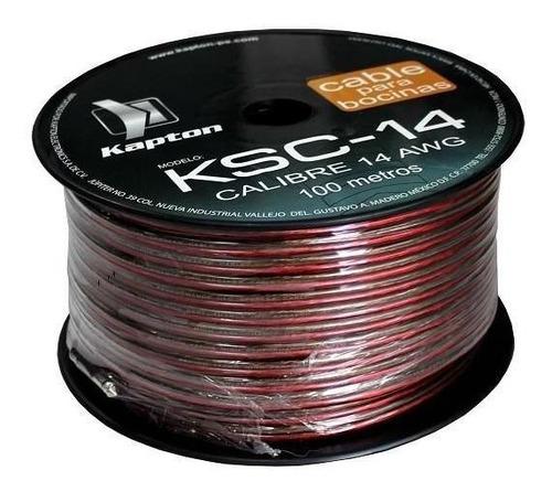 Imagen 1 de 2 de Cable Para Bocina Uso Rudo Polarizado Calibre 14 100 Mts