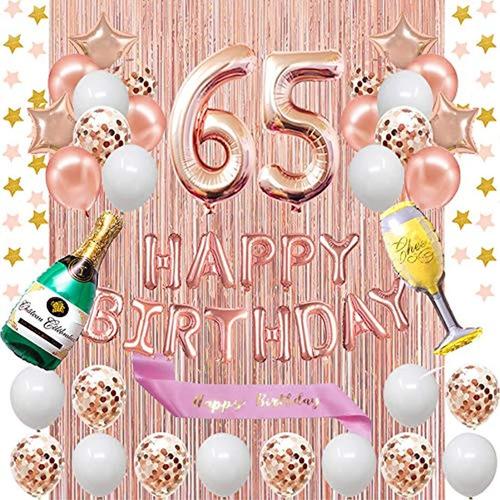 Kit Decorativo Para Fiesta De Cumpleaños 65. Marca Pyle