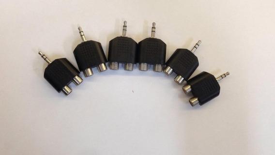 Adapartador P2 Stereo X Pra 2 Rca ( Kit De 6)
