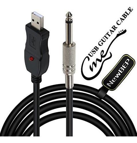 Cable De Guitarra Usb, Bajo De Guitarra A Pc Interfaz De Con
