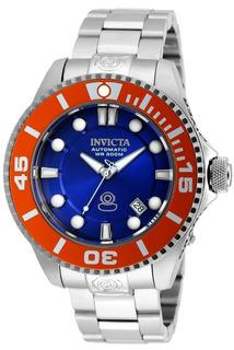 Reloj Invicta Hombre,fondo Azul Brillante,sumergible,wr300.