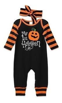 Halloween Enterizos Bebes Recién Nacido A 24 Meses Algodon