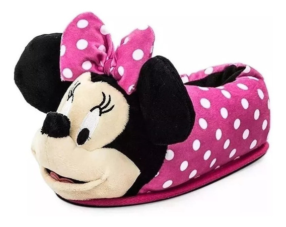 Pantuflas Infantiles Nena Modelo Minnie Invierno Casa Andrea