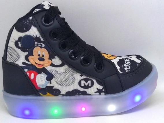 Bota Led Do Mickey Tênis Bebê Criança Promoção Com Brinde