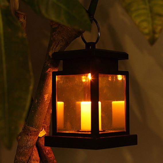 L/ámpara de Vela Luces de T/é LED Sin Llama Solares Yuciya Velas Solares Luz Nocturna para Decoraci/ón del Hogar 6 Piezas