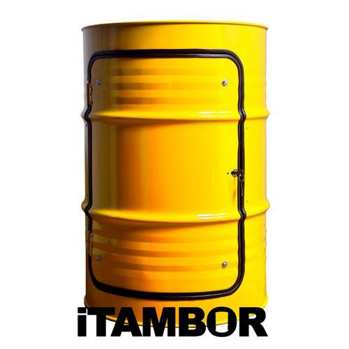 Tambor Decorativo Amarelo - Receba Em Portelândia