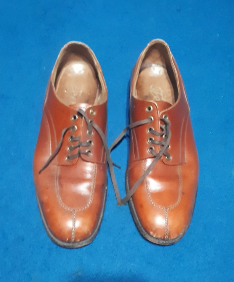 Zapatos Febo De Hombre, Talle 42, De Cuero Marrón