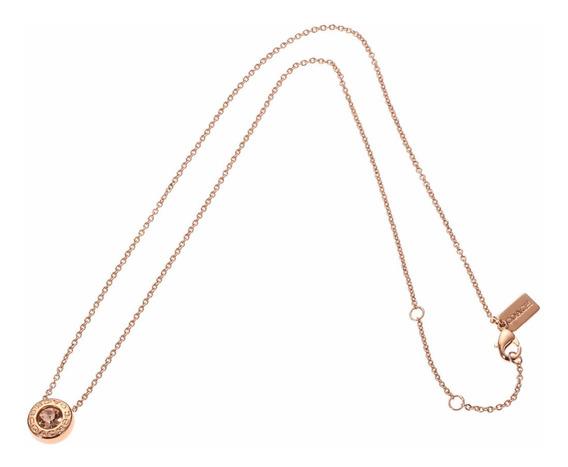Collar Coach Original Cadena Gold Rose F54514