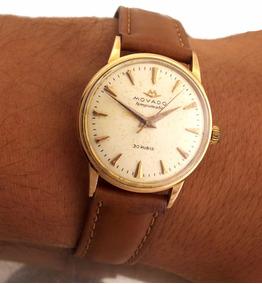 Relógio Movado Tempomatic Masculino Todo Em Ouro Rose J10166