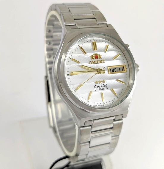 Relógio Orient Automático Aço 21jewels Prateado Fem5m012w9 35mm De Largura