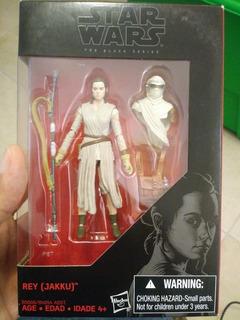 Rey ( Jakku) Y Luke Skywalker Master Jedi Black Series 3.75