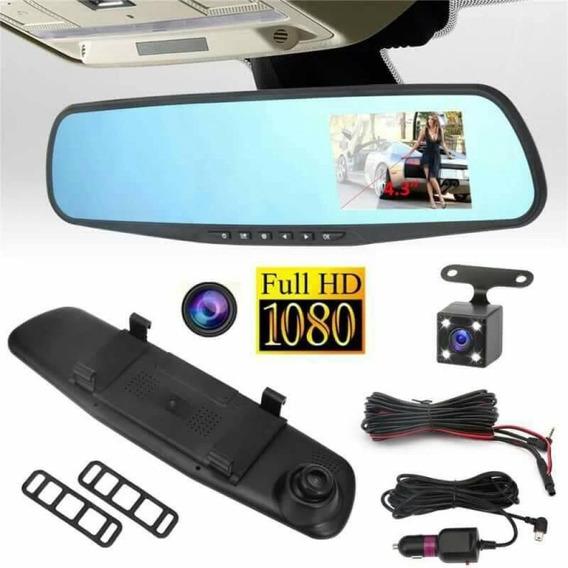 Espejo Retrovisor Tv Doble Camara Full Hd Carro 4.3
