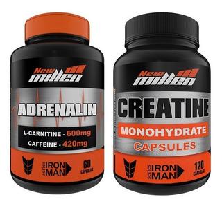 Adrenalin 60 Cps Cafeína L-carnitina + Creatina 120 Caps