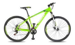 Bicicleta Mountain Bike Rodado 26 Forest Aluminio Shimano Cambios Frenos Disco Suspension Llanta Doble Varon Mujer Happy