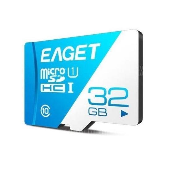 Cartão Memória Micro Sd Classe 10 Eaget 32gb Grátis Leitor