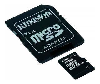 Tarjeta Kingston Microsdhc 16gb Clase 4 Con Adaptador