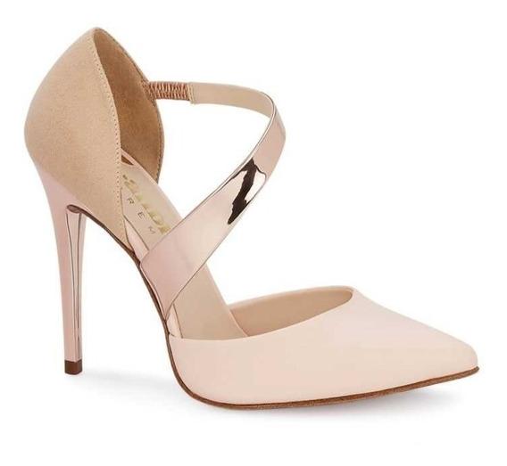 Zapatillas Andrea Rosas Tira Oro Rosa Elegante 2667300 - 407