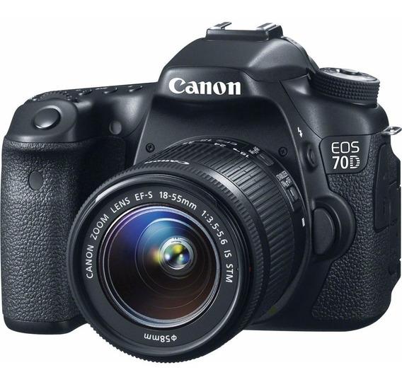 Canon Eos 70d Wi-fi 20,2mp Corpo Nova Na Caixa