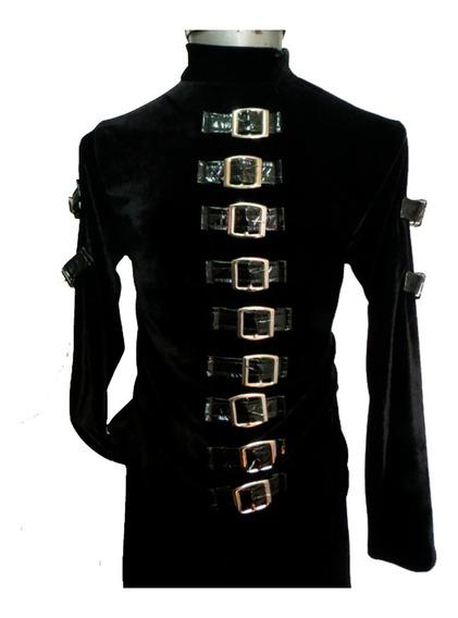 Eretica Ropa Dark-camisa Hebillas Pecho-rock-gotico