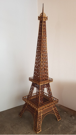 Torre Eiffel 2 Metros Mdf 6mm