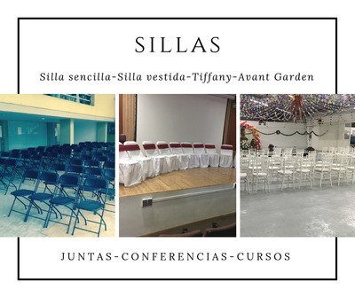 Renta De Sillas, Mesas, Carpas, Inflables, Loza. Manteleria
