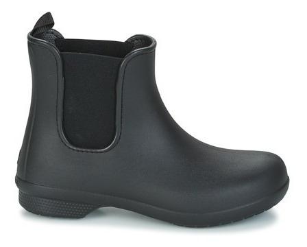Bota De Lluvia Crocs Freesail Chelsea - Black