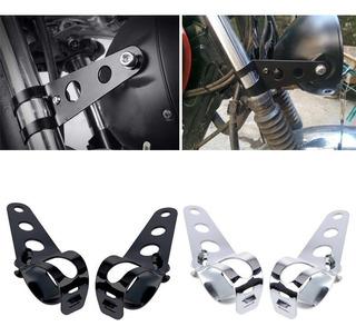 Base Metal Faro Universal Direccionales Moto Ft Chopp Italik