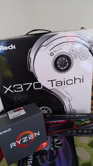 Kit Gamer Asrock X370 + Ryzen 7 1800x + 16gb Ram Geil Evo X