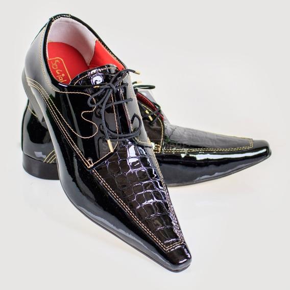 Sapato Social Masculino Brilhoso Direto Da Fábrica
