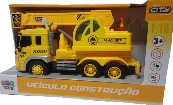 Caminhão Guindaste Realista Com Som E Luzes Bbr Toys