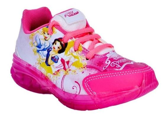 Tenis Meninas Com Led Infantil Das Princesas