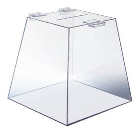Urna Pirâmide Em Acrílico Transparente 20 Cm
