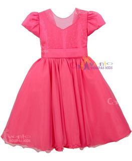 Vestido Infantil Princesa Daminha Realeza Formatura Luxo