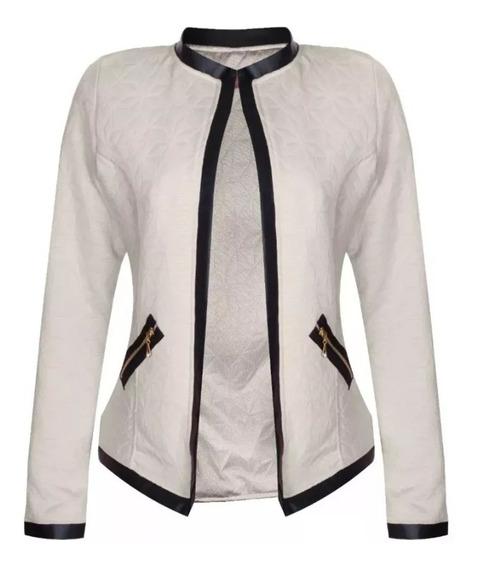 Kit 2 Jaquetinha Blusa Plus Size Casaco Frio Feminino Social