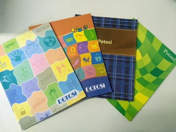 20 Unidades Cuadernos Potosi 48 Hojas Cuadri. Tapa Flexible