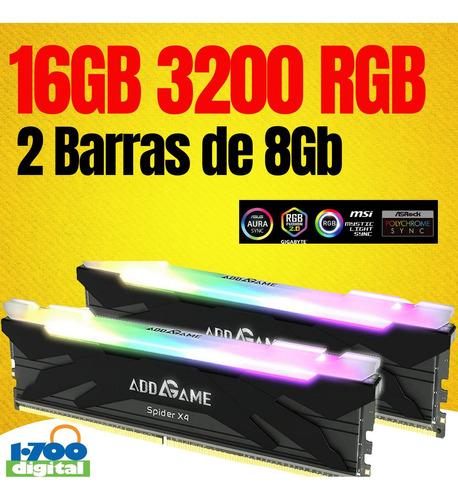 Imagen 1 de 2 de Memoria Ram Pc Gamer 16gb 2x8 Ddr4 3200 Rgb Y 32 3600 Hyperx