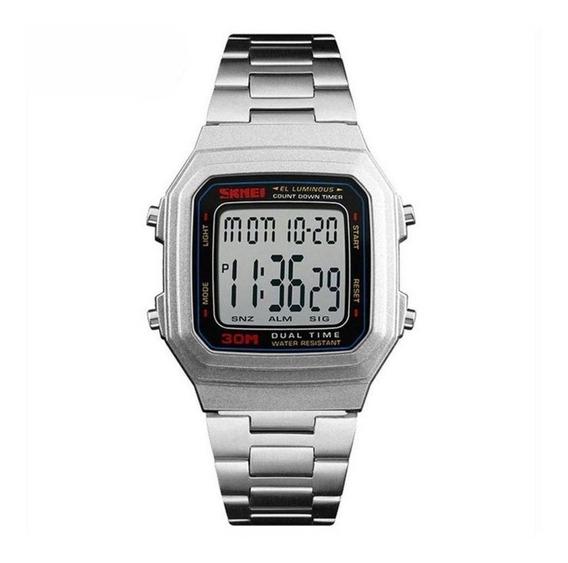 Relógio Unissex Skmei 1337 Prata C/ Garantia E Nf
