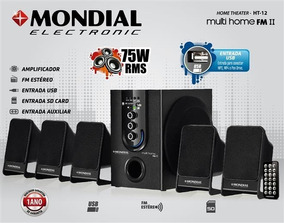 Caixa Som 75w P2 Pc Usb Notebook Subwoofer 5.1 Home Theater