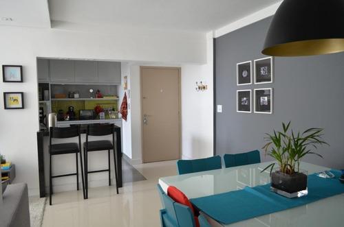 Imagem 1 de 15 de Lindo E Charmoso Apartamento No Brooklin Paulista, 65m2, 2 Dormitorios, Escritorio, Armarios Planejados Nos Quartos E Cozinha Americana, 1 Vaga De Gar - Ap15230