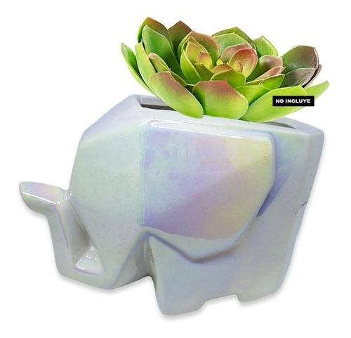 Matera Elefante Decorativa Maceta Cerámica Tornasol