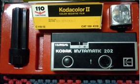 Camera Kodak Instamatic 202 Na Caixa Completa