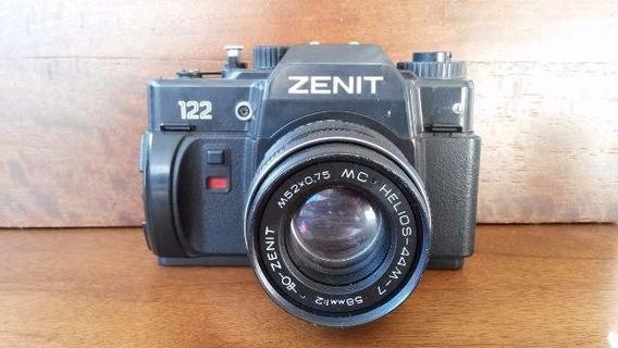 Reliquia Câmera Fotográfica Antiga Zenit 122 Defilme + Lente