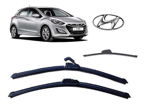 Kit 3 Palhetas Limpador De Parabrisa Dianteiro + Traseiro Hyundai I30 2013 2014 2015 2016 2017 2018 2019