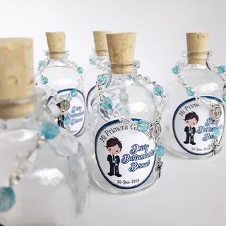 Botellas Con Denario Recordatorio Bautizo Primera Comunion