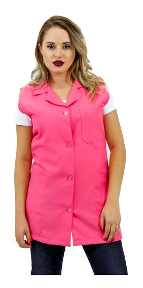 Jaleco Oxford Feminino Regata Com Gola (rosa) 35