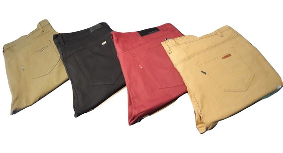 Pantalon Talle Especial Hombre Elastizado Chupin Del 50al 60