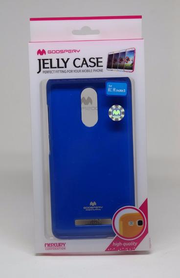 Funda Xiaomi Note3 Mercury Goospery Jelly Case Azul