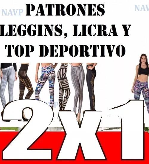 Patrones Para Elaborar Lycras Leggyns Top Monos Gym Moldes