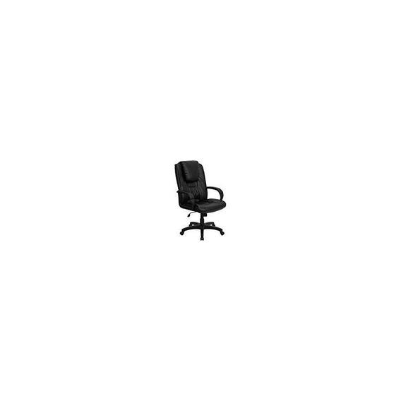 Silla Ejecutiva De Cuero Negra De La Oficina [go-5301bspec-c