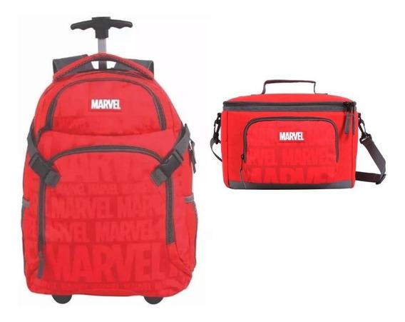 Kit Marvel Oficial Mochilete + Lancheira - Coleção 2020